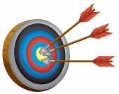 An archery board — Stock Vector