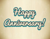 Anniversary — Stock Vector