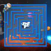 A maze game in the outerspace — Stockvector