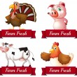 Farm animals — Stock Vector #60428165