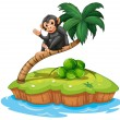 A monkey above the coconut tree — Stock Vector #60429407