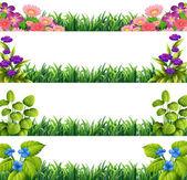 Flower decoration — Stock Vector
