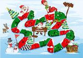 A christmas boardgame — Stock Vector