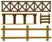 Fences — Stock Vector