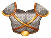 A viking's body shield — Vector de stock
