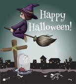 A happy halloween poster — Stock Vector