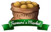 A sack of potatoes — Stock Vector