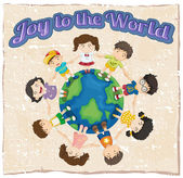 A joy to the world template — Stock Vector