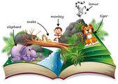 Animal book — Stock Vector
