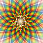 Rainbow tile — Stock Vector