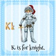 A letter K for knight — Stock Vector #62246953