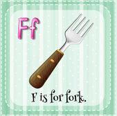 письмо f — Cтоковый вектор