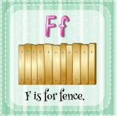 A letter F for fence — Stock Vector