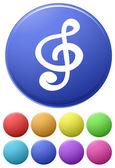 Music icons — Vector de stock