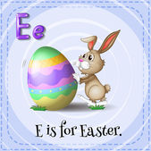 A letter E for Easter — Stock Vector