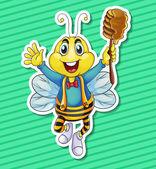 Bee and honey — Stock Vector