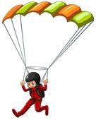 Sky diving — Stock Vector