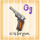 A letter G for gun — Stock Vector