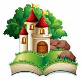 Castle and book — Vetorial Stock