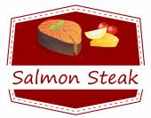 Salmon Steak — Stock Vector