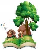 Children book — Stock Vector