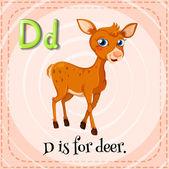Letter D — Stock Vector