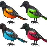 Set of birds — Stock Vector #62312407