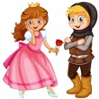 Princess and Knight — Stock Vector #62313245