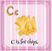 Letter C — Stockvektor