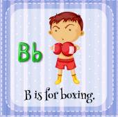 A letter B for boxer — Stock Vector