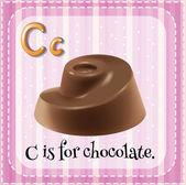 Písmeno c — Stock vektor