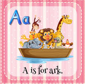 A letter A for ark — Stock Vector