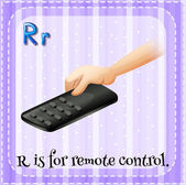 A letter R for remote control — Stockvektor