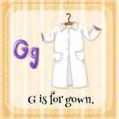 A letter G for gown — Stock Vector