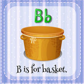 A letter B for basket — Wektor stockowy