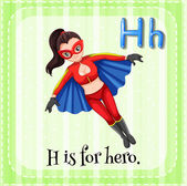 A letter H for hero — Stock Vector