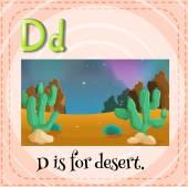 Een letter d — Stockvector