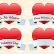 Valentine labels — Stock Vector #63879053