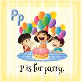 Letter P — 图库矢量图片