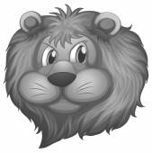 Lion head — Stock Vector