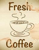 Fresh coffee — Stock Vector