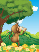 A monkey at the jungle — Stock Vector