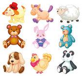 Stuffed animals — Stock Vector
