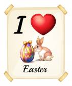 I love Easter — Vector de stock