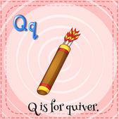Brief q — Stockvektor