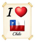 Chile — Stockvektor