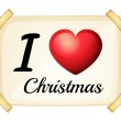 I love Christmas — Stock Vector #64728849