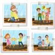 Family photos — Stock Vector #64729037