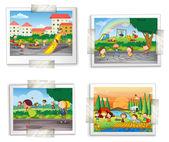Playground photos — Stock Vector