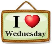 I love Wednesday — Stock Vector